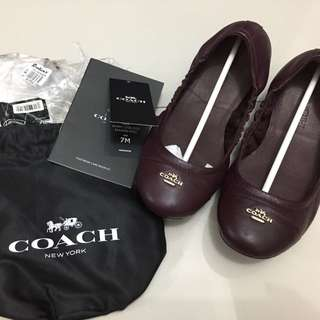 USED 1x only: Coach Foldable Flats size 7M