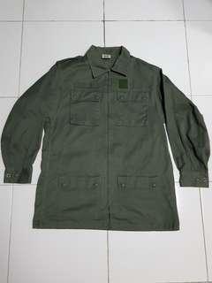 FRANCE 4 pocket ziper up military jacket.