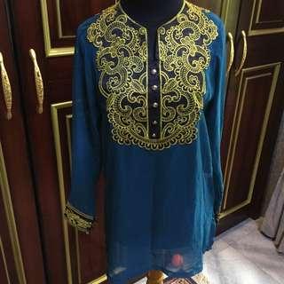 Baju muslim bordir gold