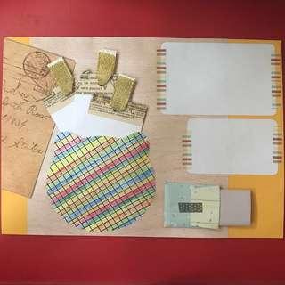 Art journal style handmade card