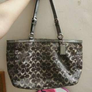 Authentic Coach Handbag- Grey