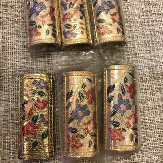 Fine Arts Cloisonne Golden Lighter Case