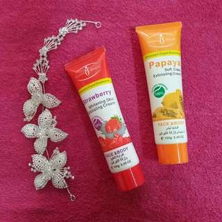 SCRUB PAPAYA/STRAWBERRY FACE&BODY
