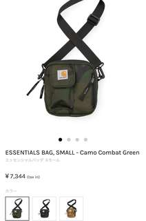 代購 全新 carhartt wip ESSENTIALS BAG 袋 防水