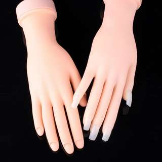 1PCS FLEXIBLE SOFT PLASTIC FLEXIBLE MANNEQUIN MODEL FAKE HAND FOR NAIL ART PRACTICE DISPLAY TOOL SALON NAILS TRAINING CAN BEND