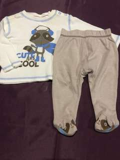 3-6 Mths George Shirt & Pants