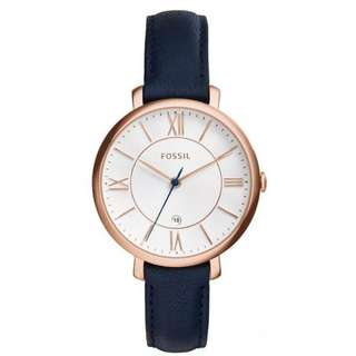Preorder  Fossil Jacqueline Navy Leather Watch ES3843