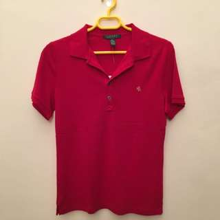 RL Red Collared Top