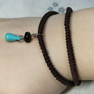 Handmade bracelet with Water-drop Shape Stone Pendent