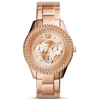 Preorder Fossil Stella Women's Rose Gold Stainless Steel Strap Watch ES3590