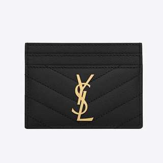 YSL MONOGRAM CREDIT CARD CASE 代購