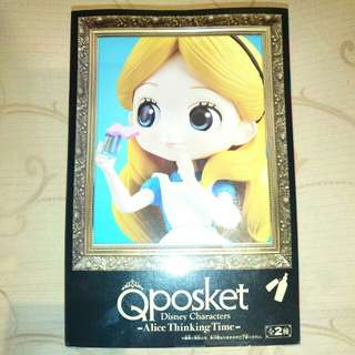 Qposket Disney character Alice thinking tims