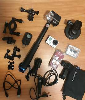 GoPro Hero 3+ almost all accessories included