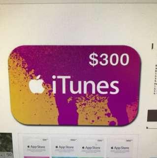 iTunes card $300