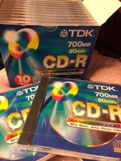 TDK CD-R 700mb /80mins 13張