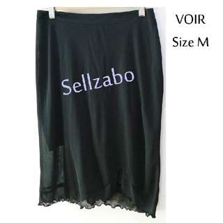 Size M VOIR Knee Length Frills Skirt Sellzabo Black Colour Ladies Girls Women Female Lady