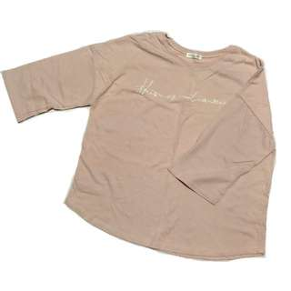BN pink embroidered tee