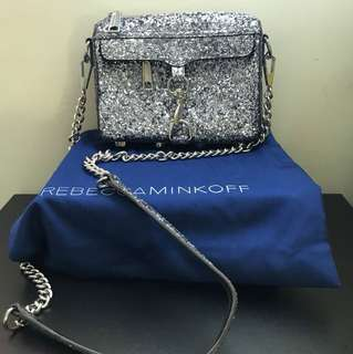 Rebecca minkoff glitter mini mac crossbody bag