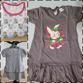 3 in 1 set for girls (3yrs) only rm30 all in