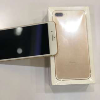 iphone 7 plus 256GB(gold)