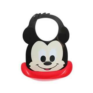 Disney Mickey Mouse Waterproof Bib with Food Catcher