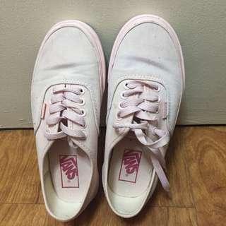 Class A pastel pink Vans