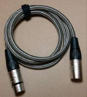 Audio Interconnect / Powered Speaker Cable, 4 feet, balanced, XLR male/female