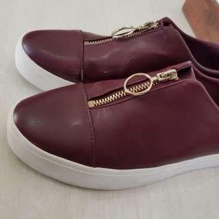Stradivarius Maroon Shoes
