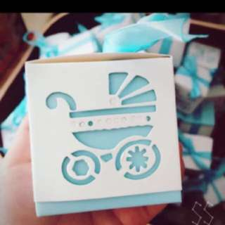 15 Pieces Ready Stocks Baby Boy Shower Party Door Gift Favors Box