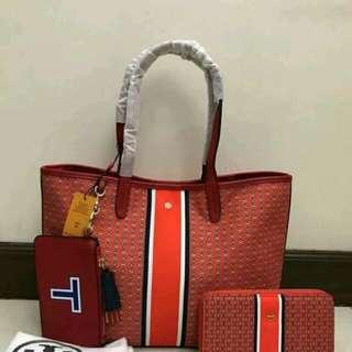 PROMO SET: Tory Burch Tote Bag and Wallet -orange