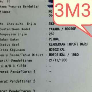 YAMAHA RD250F 3M3