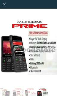 ANDROMAX prime unlimited 4g 24 jam