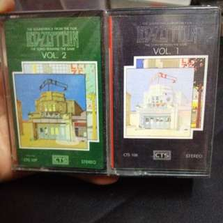 Led Zeppelin .Vol 1 & 2. Cassettes Tape. (Rare