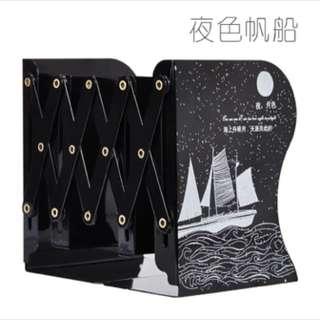 Flexible book holder/rack