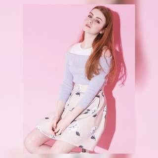 日系 最新款 超甜美溫柔花朵半身裙(100%new)