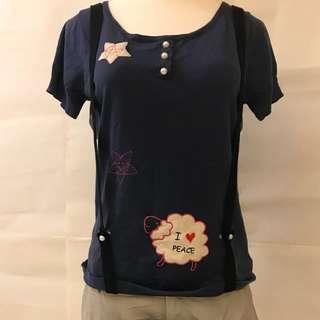 🚚 Dalio短袖針織紫色吊帶