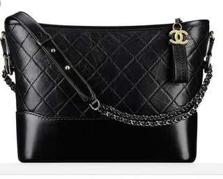 LNIB Chanel Gabrielle Medium Hobo Bag Black Ghw #24