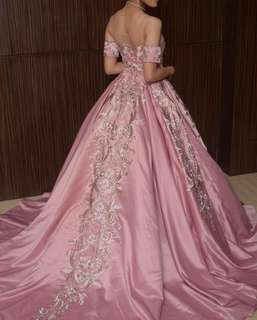 Rose Gold Ball Gown for rent