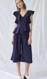 Collate The Label Textured Cotton Culottes