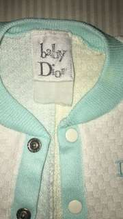 Baby Dior sleepsuits