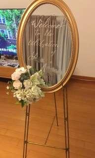 Rental: Wedding welcoming board/sign