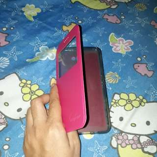 J5 Prime Pink Leather Case