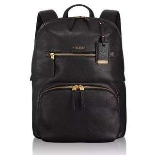 Tumi Voyaguer Halle Leather Backpack Black #017001D
