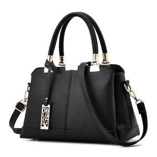 Black Handbag / Sling bag ; Trendy Fashion Office Smart casual Bag women's ladies girls woman