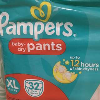 PAMPERS baby-dry PANTS XL 32 pcs diapers