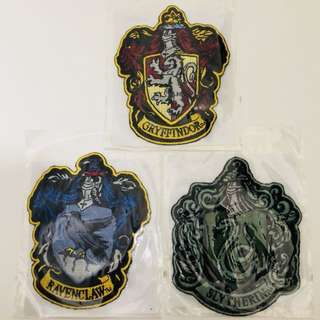 Universal Studios Japan Harry Potter gryffindor ravenclaw slytherin iron on patches