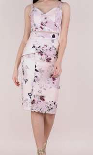 bnwt ttr size M pink macro floral pencil skirt