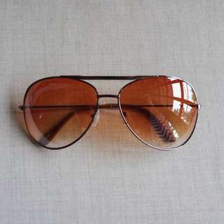 Aviator Sunglasses, Brown