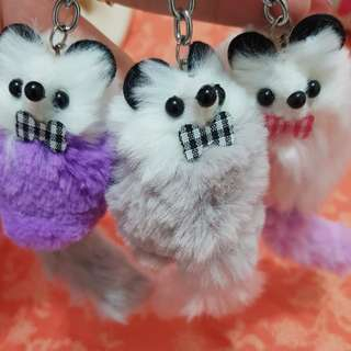 Cute fluffy adorable possum keyring charms RARE