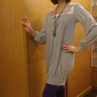 🚚 淺灰色洋裝